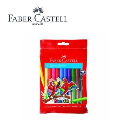 Marcadores 10 colores Faber Castell Fiesta