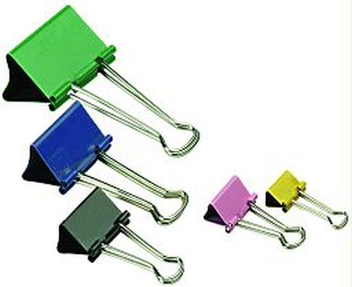 Binder Clips Sifap Nº 1 19mm Multicolor Caja x 12