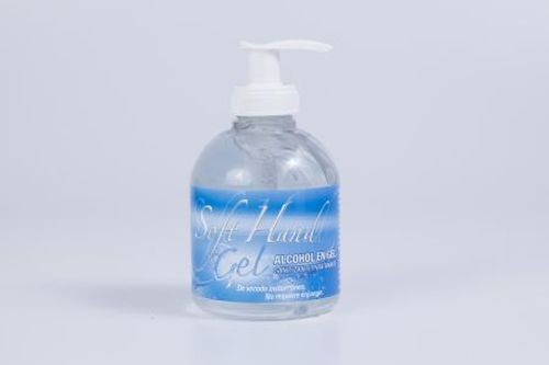 Alcohol Soft Hands en gel 250 cc Con dispenser Sanitizante para manos