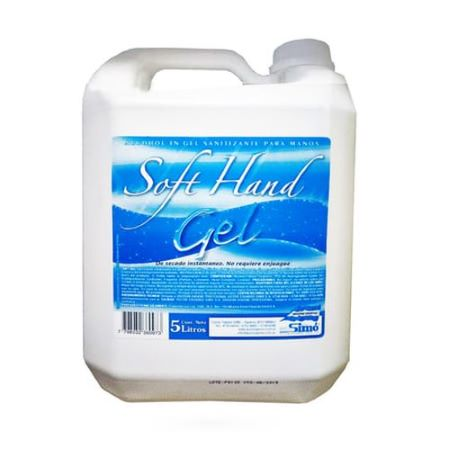Alcohol Soft Hands en gel 5 lts Sanitizante para manos